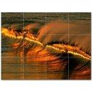 Wave Photo Ceramic Tile Mural Kitchen Backsplash Bathroom Shower 406278