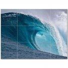 Wave Photo Ceramic Tile Mural Kitchen Backsplash Bathroom Shower 406279