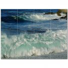 Wave Photo Ceramic Tile Mural Kitchen Backsplash Bathroom Shower 406284