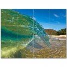 Wave Photo Ceramic Tile Mural Kitchen Backsplash Bathroom Shower 406286