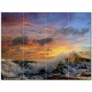 Wave Photo Ceramic Tile Mural Kitchen Backsplash Bathroom Shower 406289