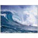 Wave Photo Ceramic Tile Mural Kitchen Backsplash Bathroom Shower 406292