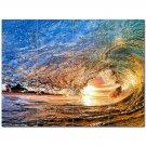 Wave Photo Ceramic Tile Mural Kitchen Backsplash Bathroom Shower 406293