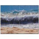 Wave Photo Ceramic Tile Mural Kitchen Backsplash Bathroom Shower 406294