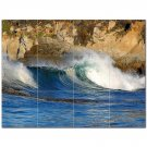 Wave Photo Ceramic Tile Mural Kitchen Backsplash Bathroom Shower 406297