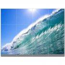 Wave Picture Ceramic Tile Mural Kitchen Backsplash Bathroom Shower 406298