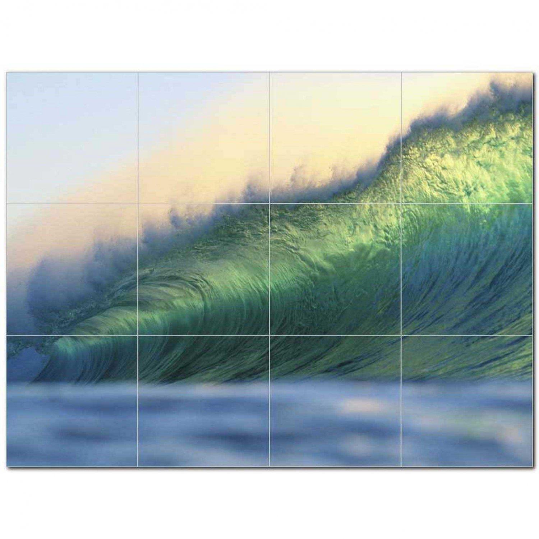 Wave Picture Ceramic Tile Mural Kitchen Backsplash Bathroom Shower 406302