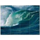 Wave Picture Ceramic Tile Mural Kitchen Backsplash Bathroom Shower 406308