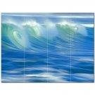 Wave Picture Ceramic Tile Mural Kitchen Backsplash Bathroom Shower 406309