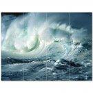 Wave Picture Ceramic Tile Mural Kitchen Backsplash Bathroom Shower 406310