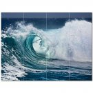 Wave Picture Ceramic Tile Mural Kitchen Backsplash Bathroom Shower 406313