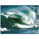 Wave Picture Ceramic Tile Mural Kitchen Backsplash Bathroom Shower 406316