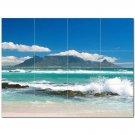 Wave Picture Ceramic Tile Mural Kitchen Backsplash Bathroom Shower 406318