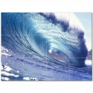 Waves Ceramic Tile Mural Kitchen Backsplash Bathroom Shower 401920