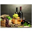 Wine Grapes Ceramic Tile Mural Kitchen Backsplash Bathroom Shower 406358