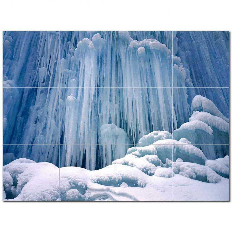 Winter Photo Ceramic Tile Mural Kitchen Backsplash Bathroom Shower 406410
