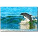 Dolphin Ceramic Tile Mural Kitchen Backsplash Bathroom Shower 402814