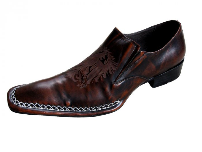 New Fiesso Hand Stitched Brown Shoe w/Nice Design Size 11