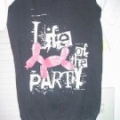 Large Tee Shirt for Dogs Life of the Party  100% Cotton