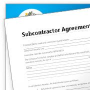 Sub Contractor Agreement Forms, Records, Job, invoice