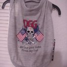 "Dog Tee Shirt I Get My Good Looks From My Dad NWT 12"" from neck tail"