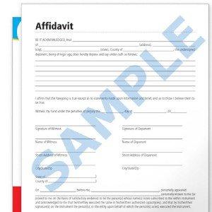 General Affidavit Sworn Statement Form Document oath