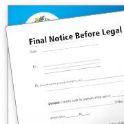 Final Notice Before Legal Action Litigation Customize Forms