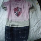 Large Dog Dress With Tags Pink and Denim