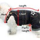 Glittering Denim Designer Cool Dog Jeans Pants.Sm.Med.