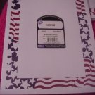 Red White Blue Stationery Invitations Ad Flyers