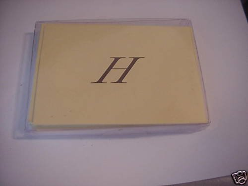 """Blank Note Cards With Your Initial  """"H""""  ENVELOPES"""