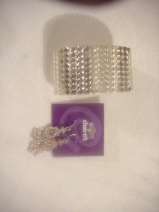 New From Claires silver Bracelet and Earrings