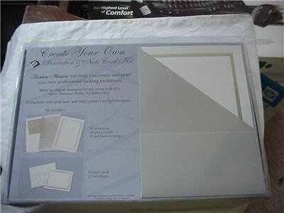 Create Your Own Invitations and Notecard Kit 125 Piece
