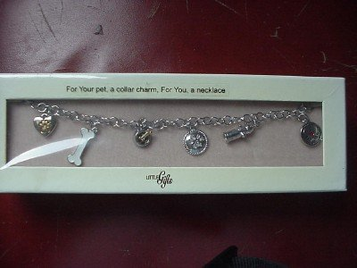 Dog Collar Charm Necklace 6 Charms New in Box