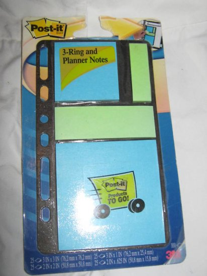 3-Ring Planner Notes 100 Post It Notes