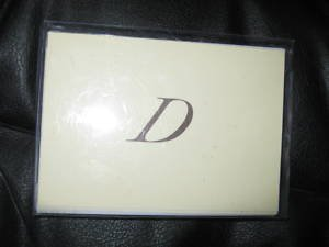"""Blank Note Cards w/ Initial """"D""""  ENVELOPES Stationery"""