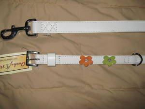 "Dog Leash & Matching Collar Medium New 15"" to 18"" Neck"