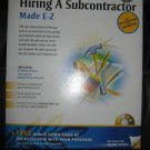 Hiring a SubContractor PC SOFTWARE BOOK Forms
