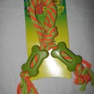 Dog Toy 2 Rubber Bones On A Rope Very Durable