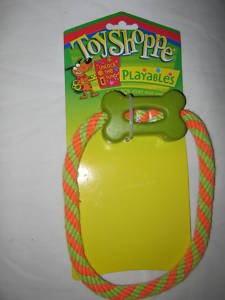 Dog Toy Rubber Bone On A Rope Very Durable