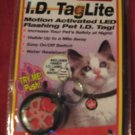 I.D. Tag Dog Cat Motion Activated LED Flashing Light