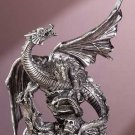 Pewter Finish Dragon