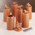 6 Terra Cotta Incense Holder Burner with Incense