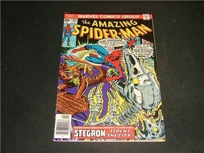 Amazing Spider-Man #165 Feb '77 Stegron Stalks The City