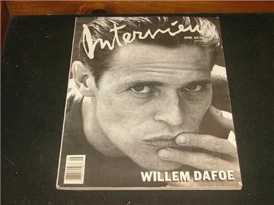 ANDY WARHOLS Interview Magazine June 1988 WILLIAM DAFOE
