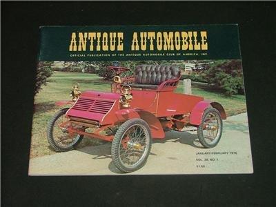 ANTIQUE AUTOMOBILE Magazine Jan-Feb. '75 Great Photo's!