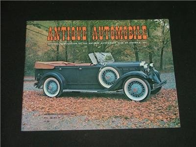 ANTIQUE AUTOMOBILE Magazine Nov.-Dec. '74 Great Photo's