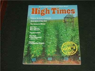 High Times Magazine Nov. '76 Frank Costello Rumrunner
