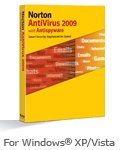 Norton AntiVirus 2009 5 users license with 2 years subscription