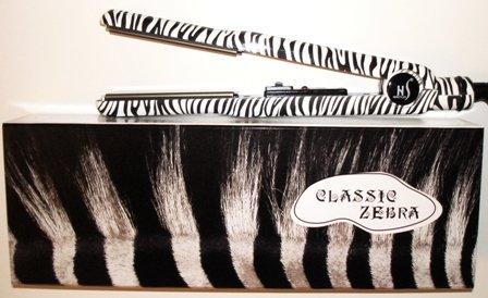 "New HerStyler Classic Zebra 1"" Tourmaline Ceramic Flat Iron"